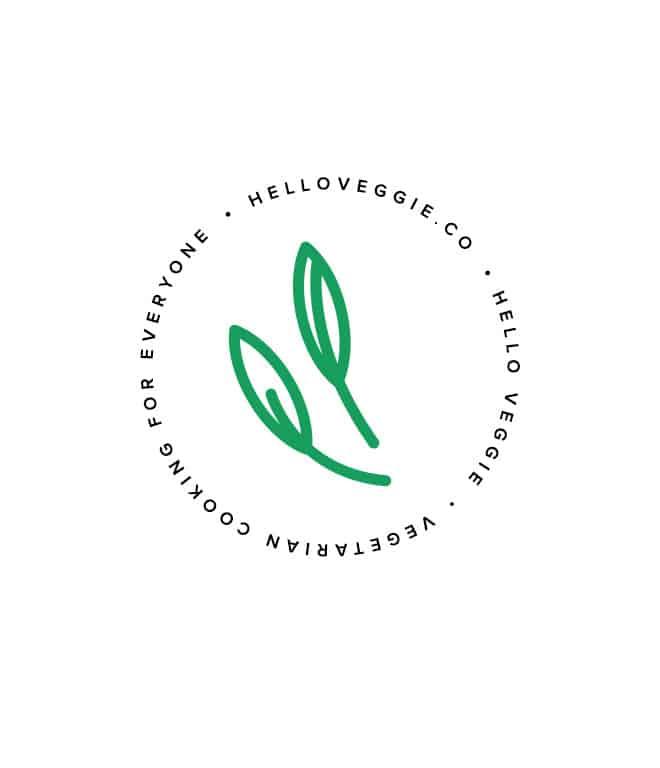 Hello Veggie Food Blog Logo Design Mark