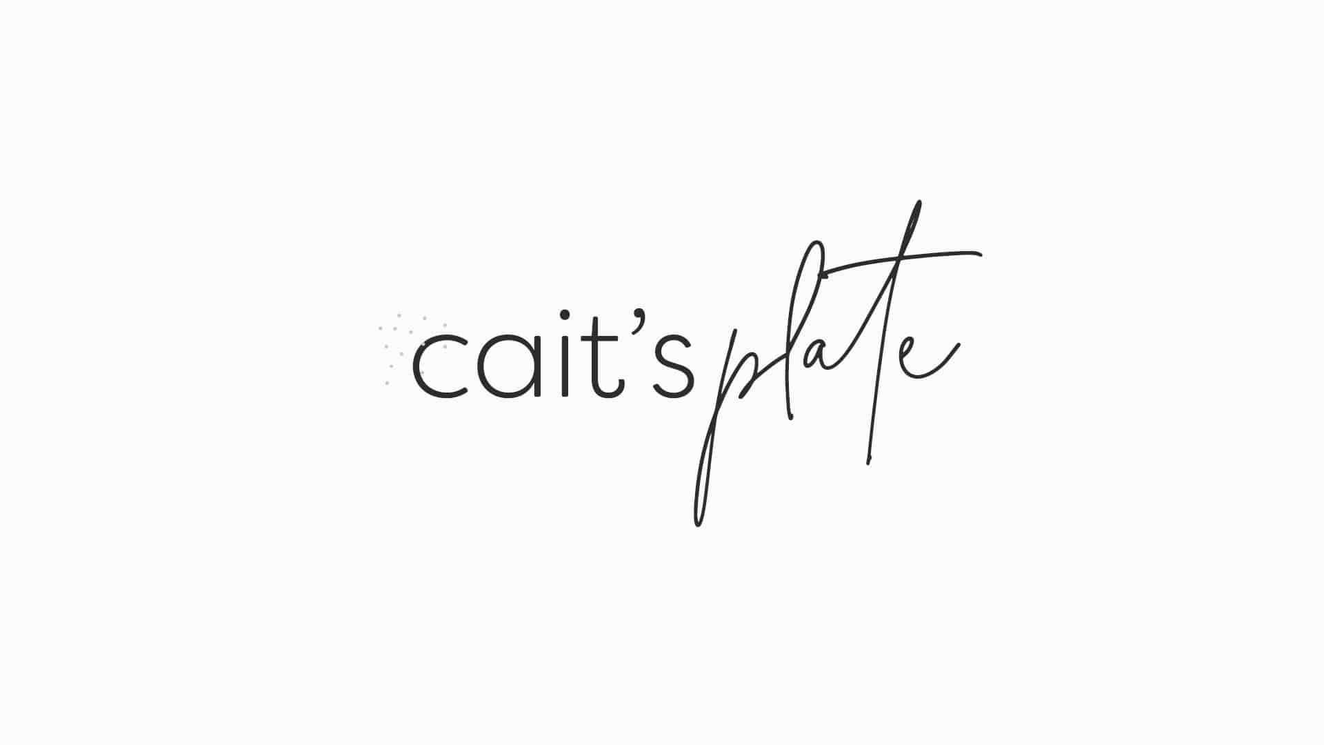 Cait's Plate Logo Design