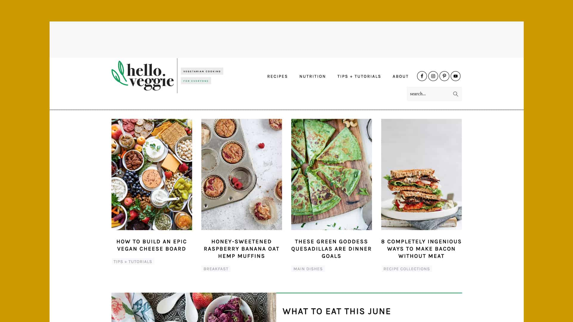 hello veggie strategic website refresh