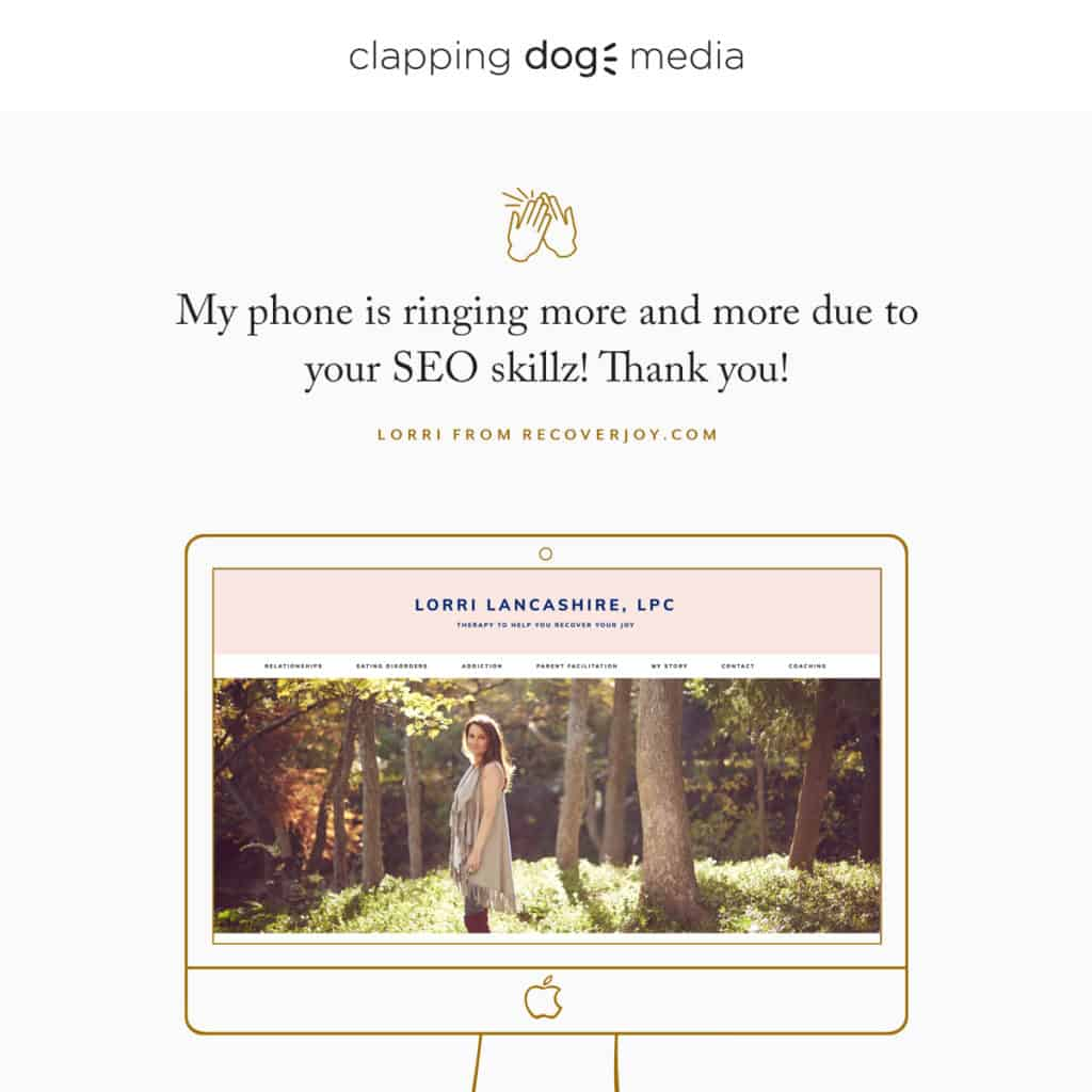 Meg Clapping Dog Instagram Graphic