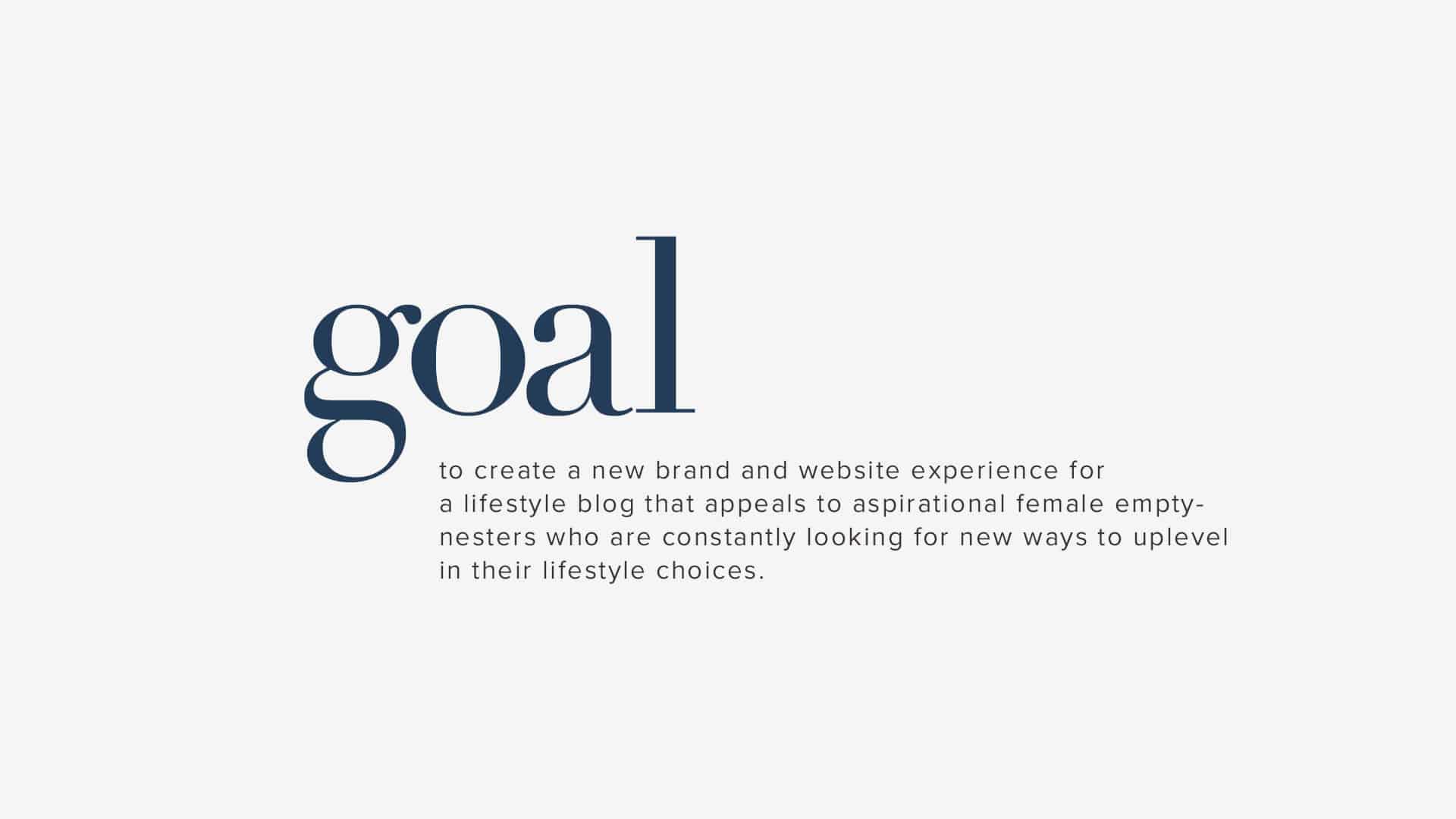 Tight Knit Branding Goal