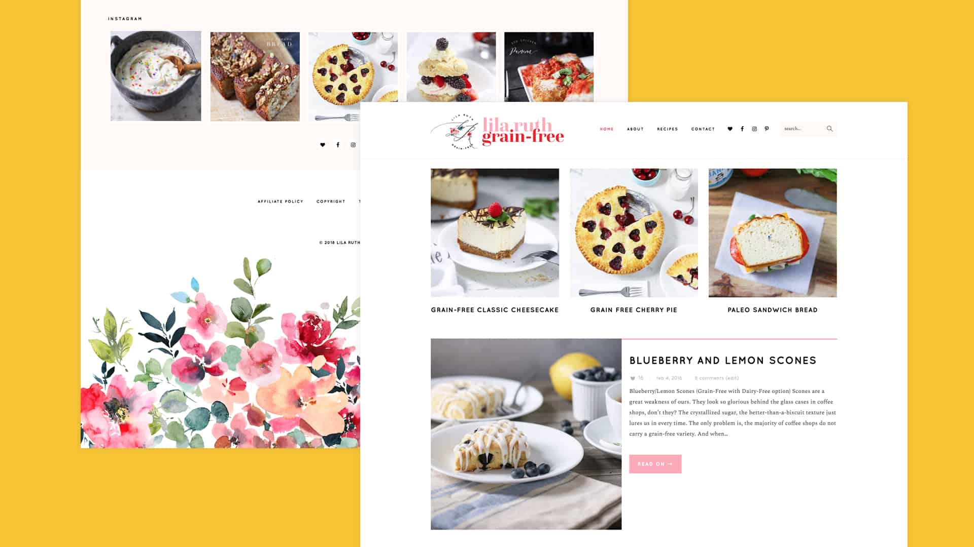 Food Blog Design Screenshot