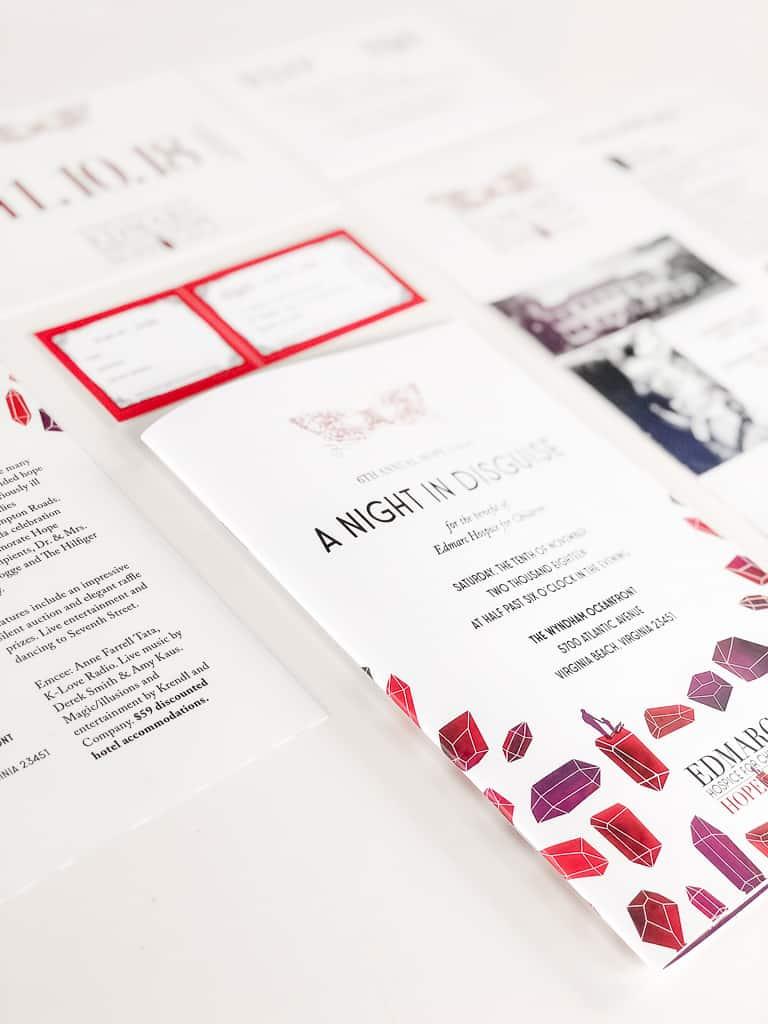 program design, invitation design, rsvp