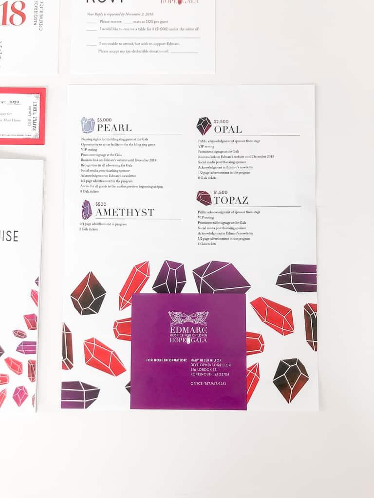 event design sponsorship rate sheet